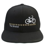 Hermosa Cyclery Hermosa Cyclery - The Strand, Structured Mid-Profile Black Hat - The Classic