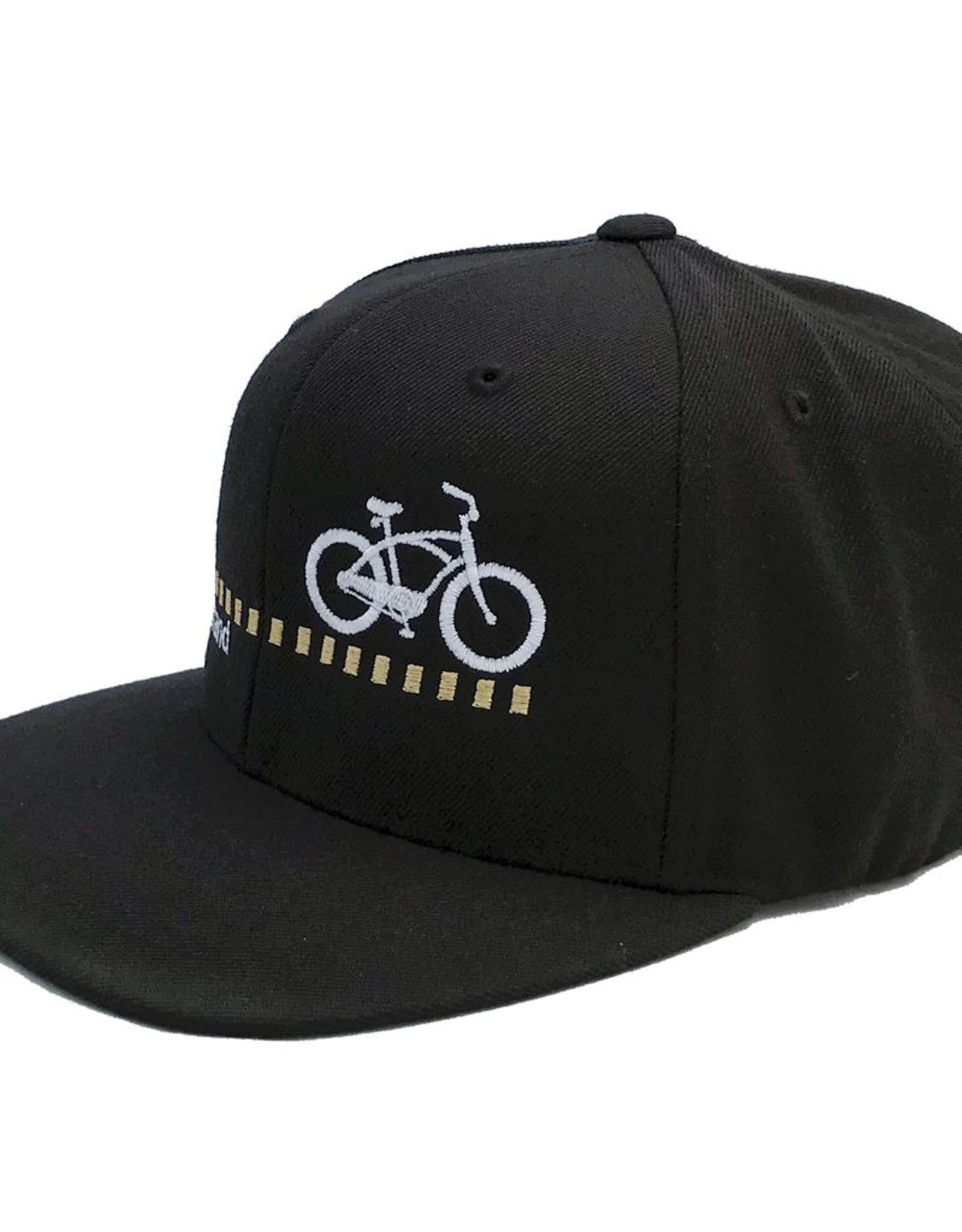 Hermosa Cyclery Hermosa Cyclery - The Strand, Structured Mid-Profile Black Hat - The Classic Yupoong 6089