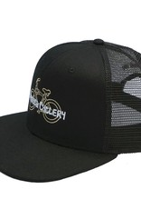 Hermosa Cyclery Hermosa Cyclery - Bike Logo, Structured High-Profile Black Hat - Trucker/Mesh - Fahrenheit 487