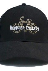 Hermosa Cyclery Hermosa Cyclery - Bike Logo, Structured Low-Profile Black Hat - - Fahrenheit 256
