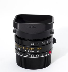 Used 28mm Elmarit ASPH f/2.8 w/ Booklets, Box, Caps, Case, and Plastic Hood