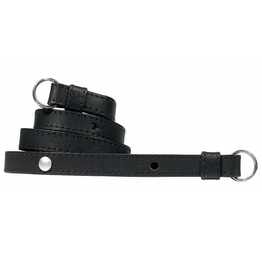 Strap - Traditional Black Saddle Leather w/ Neck Pad