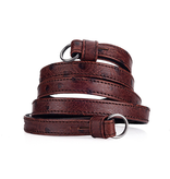 Strap: Traditional Chestnut Ostrich Look w/ Neck Pad