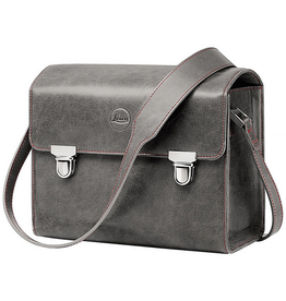 Case - Small Leather Stone Grey