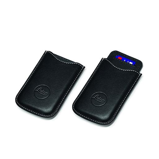 SD & Credit Card Holder Leather Black