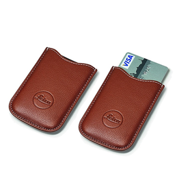 SD and Credit Card Holder Leather Cognac**