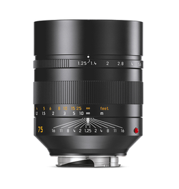 75mm / f1.25 ASPH Noctilux Black Anodized (E67) (M)