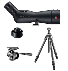 Spotting Scope Set: 82 Angled Televid, 1.8x Extender, 25-50x Eyepiece, Gitzo Series 2 Tripod and Gitzo Two-Way Head