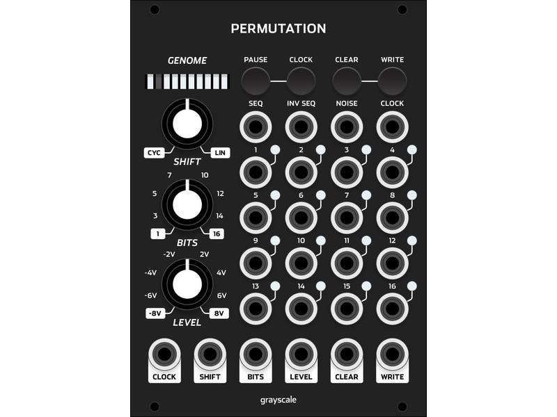 Grayscale Permutation 18hp (Black)