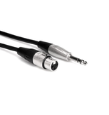 """Hosa Pro Microphone Cable, XLR Female to 1/4"""" Balanced, 10ft"""