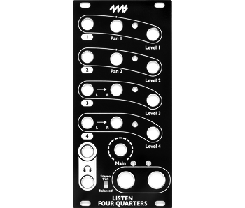 4ms Listen 4 Quarters Faceplate - Black