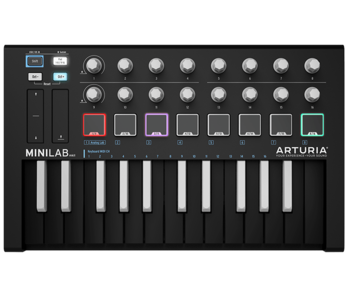 Arturia MiniLab mkII, INVERTED (Black)