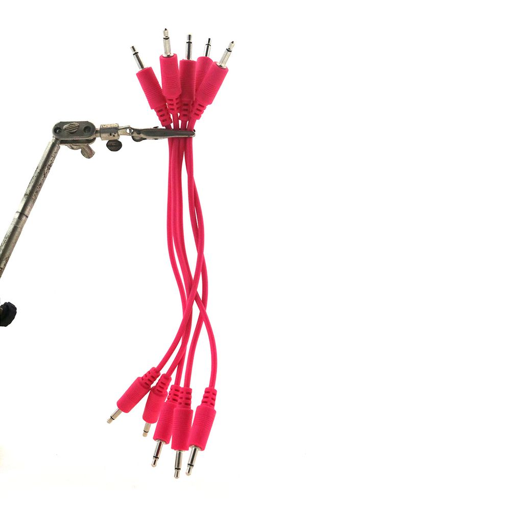 Make Noise 6 Hot Pink 3 5mm Patch Cables 5pk