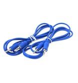 "Ad Infinitum 48"" Blue 3.5mm Patch Cables 2pk"