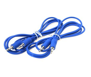 "Ad Infinitum 48"" Blue 3.5mm Patch Cables 2pk"