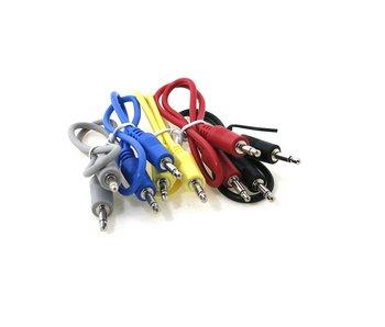 """Ad Infinitum 12"""" Multicolor 3.5mm Patch Cables 5pk"""