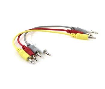 """Ad Infinitum 6"""" Multicolor 3.5mm Patch Cables 4pk"""