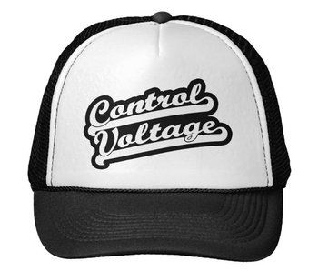Control Voltage Trucker Hat, Baseball Font