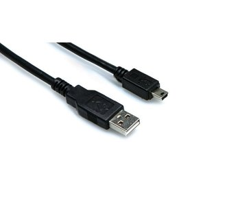 Hosa USB Cable, Type A to Mini-B, 6ft