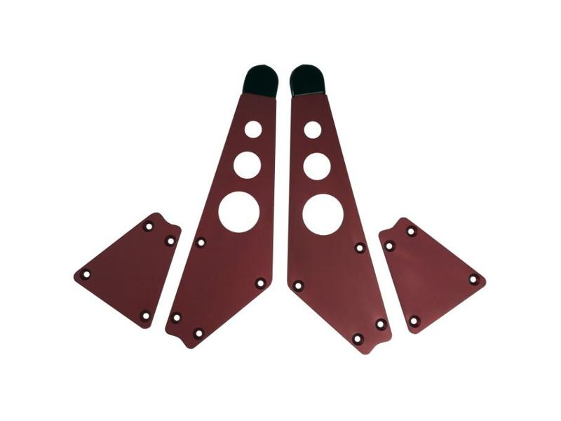 Intellijel 4U Joiner Plates (pair), Red