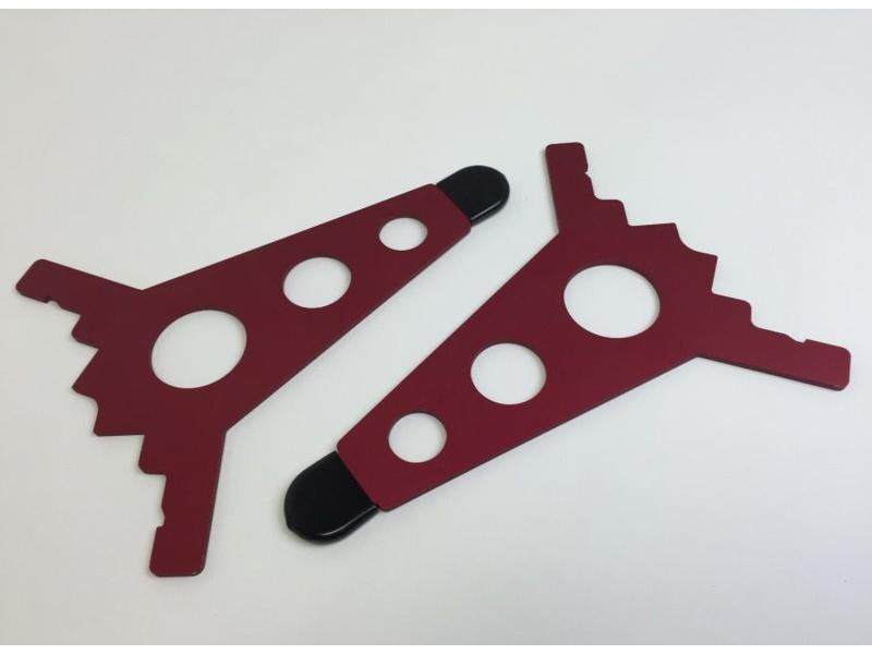Intellijel 7U Joiner Plates (pair), Red