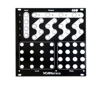4ms VCAM Faceplate - Black