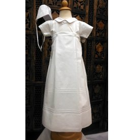 #07016 BAPTISM GOWN/CAPE - WHITE