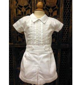 #7459 2pc Boys White Shirt & Pants Set
