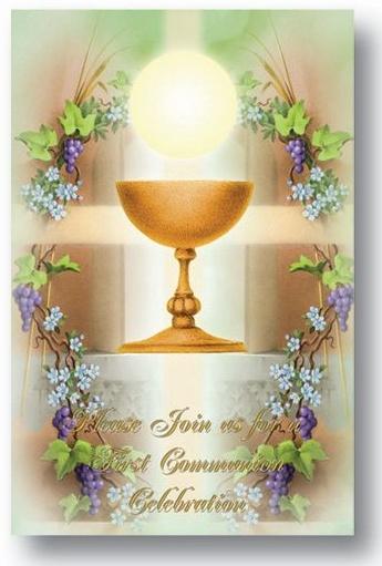 First Communion Invitations 8 Pack Joyful Spirit Gifts Catholic
