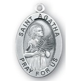 """1 1/16"""" Sterling Silver Oval Medal"""