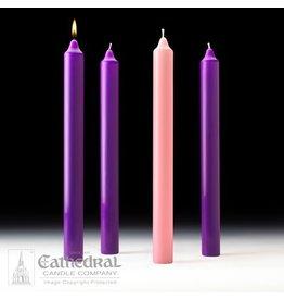 Advent Set Stearine 1-1/2 x 16 (3 Purple, 1 Rose)