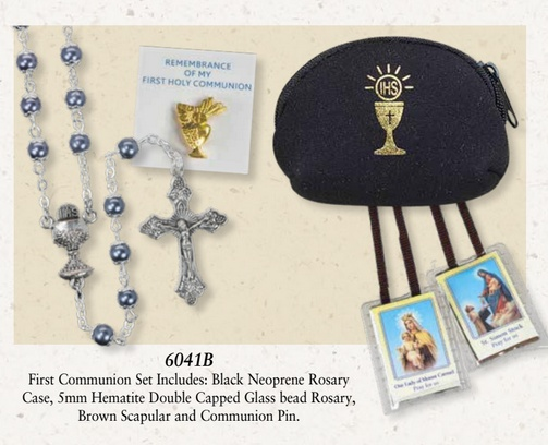 Hematite Rosary Set 6041B