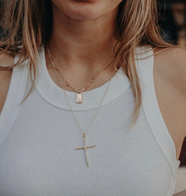 Fathered Fearless Cross Necklace