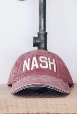 The Nash Collection NASH Vintage Red Wash Ball Cap