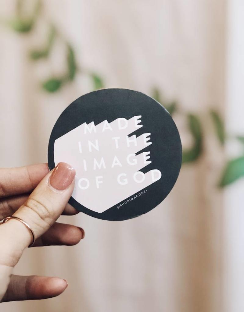 Round Imago Dei Sticker