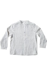 Stripe Mock Neck Shirt