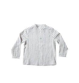 Stripe Mock Neck Shirt