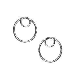 Strut Jewelry Strut-Double Circle Ear Jacket-SS