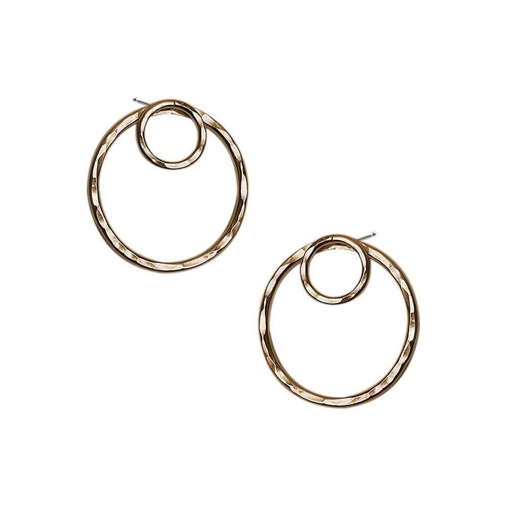 Strut Jewelry Strut-Double Circle Ear Jacket-GF