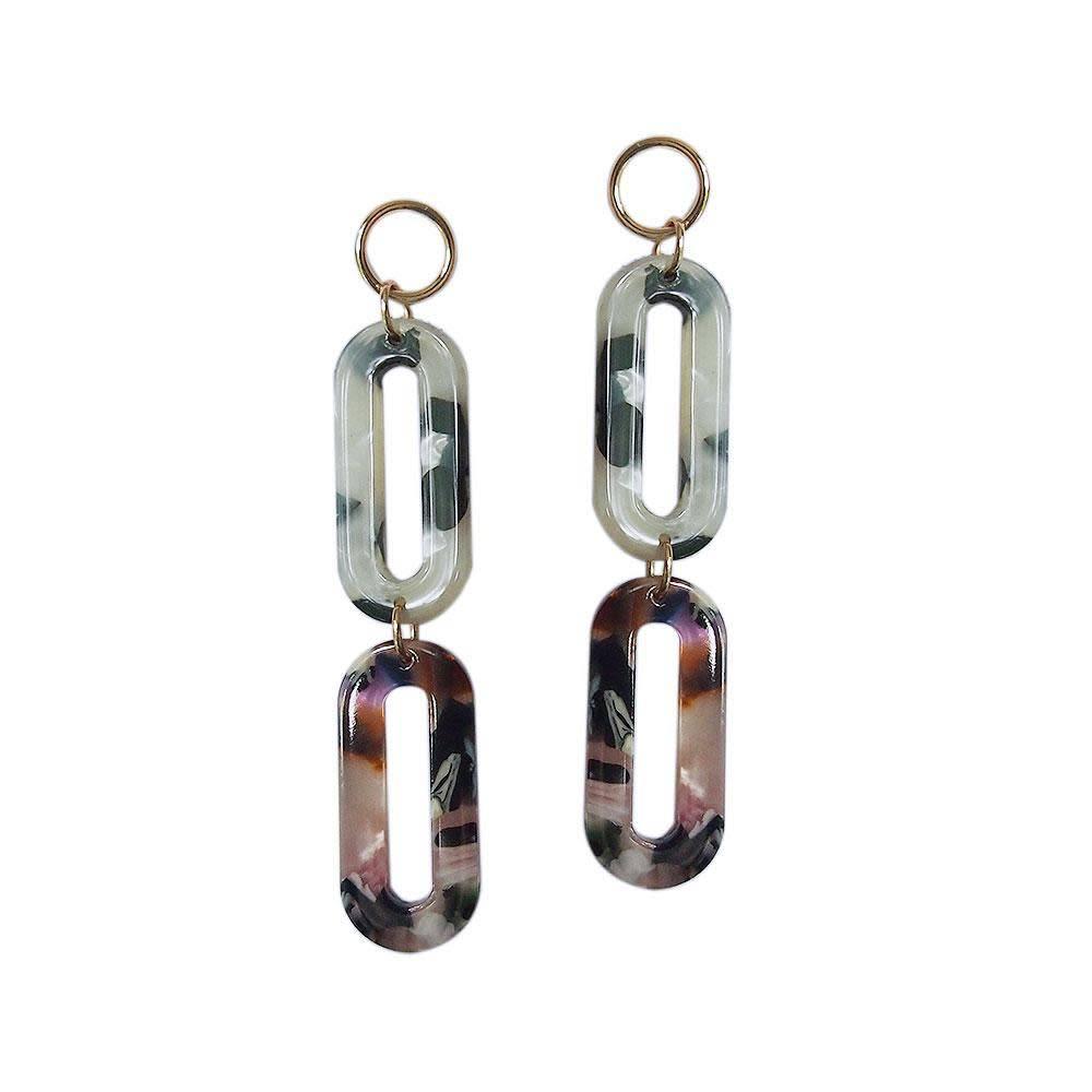 Strut Jewelry Strut-Lucite Double Oval Earring
