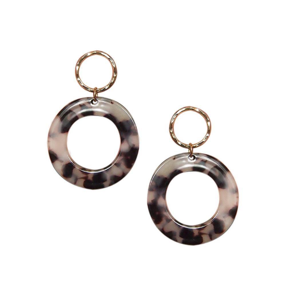 Strut Jewelry Strut-Lucite Circle Earrings