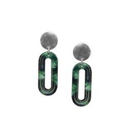 Strut Jewelry Strut-Lucite Longline Oval Earring