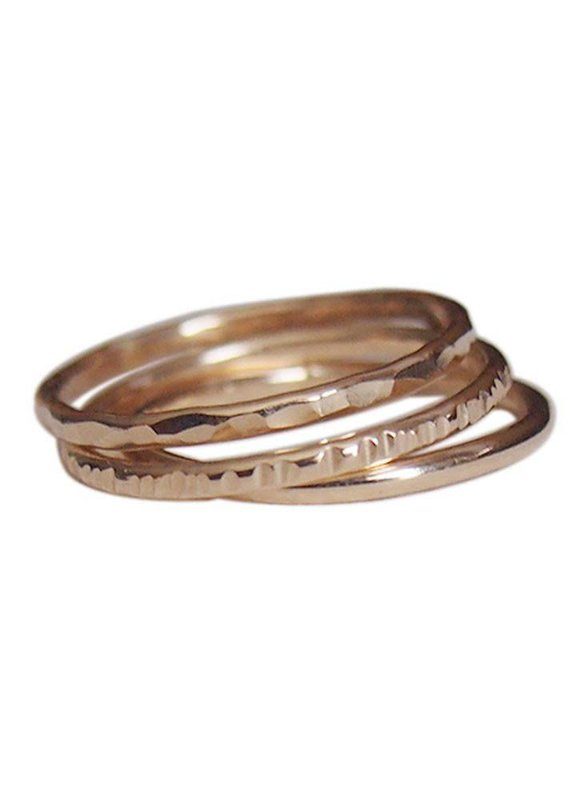 Strut Jewelry Strut-Textured Stacking Rings