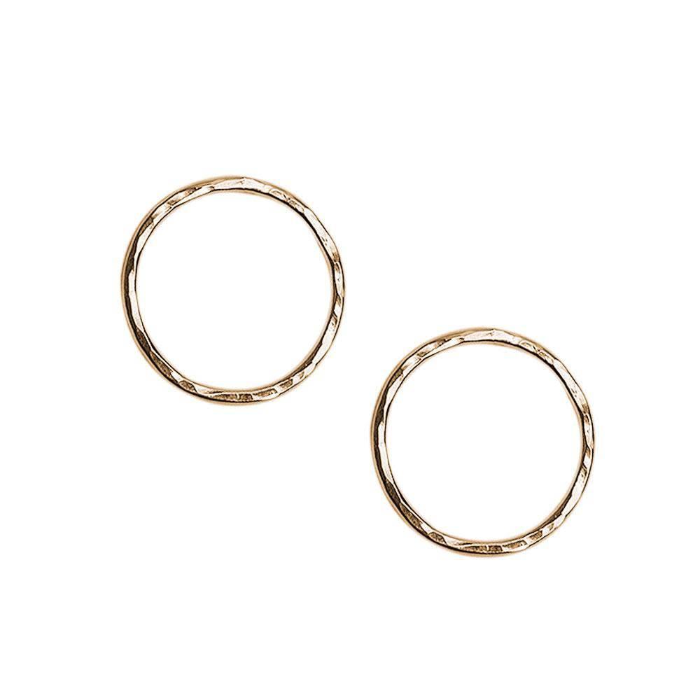Strut Jewelry Strut-Hammered Circle Studs-LG