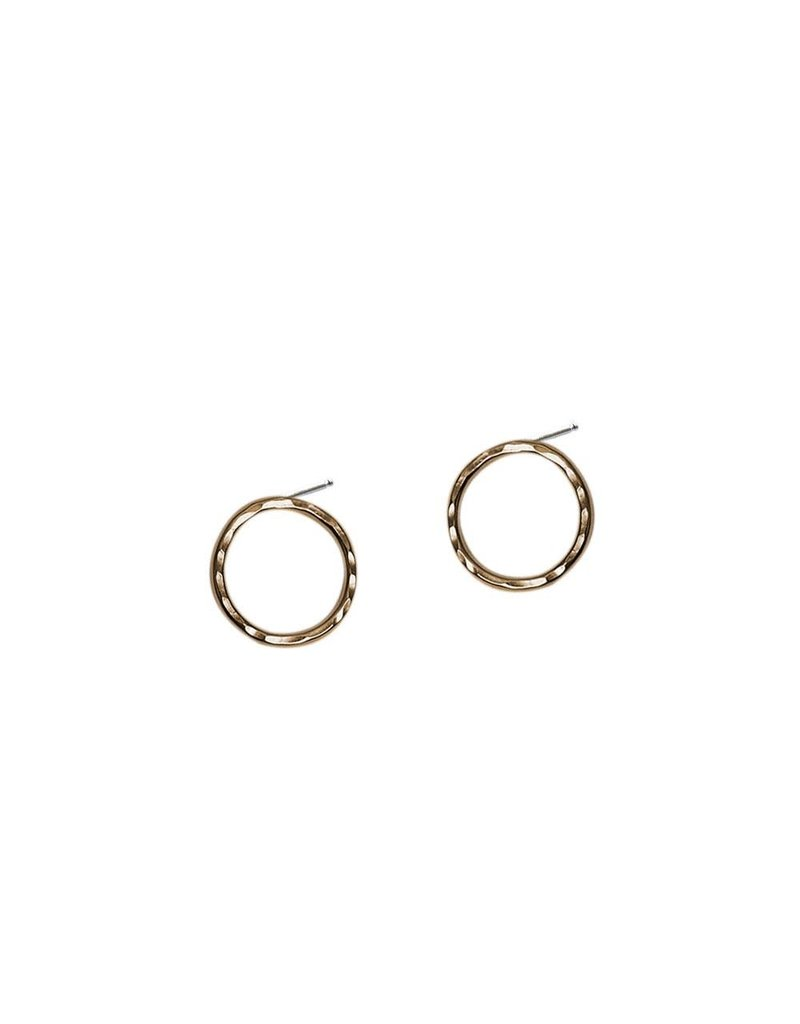 Strut Jewelry Strut-Hammered Circle Studs-Med
