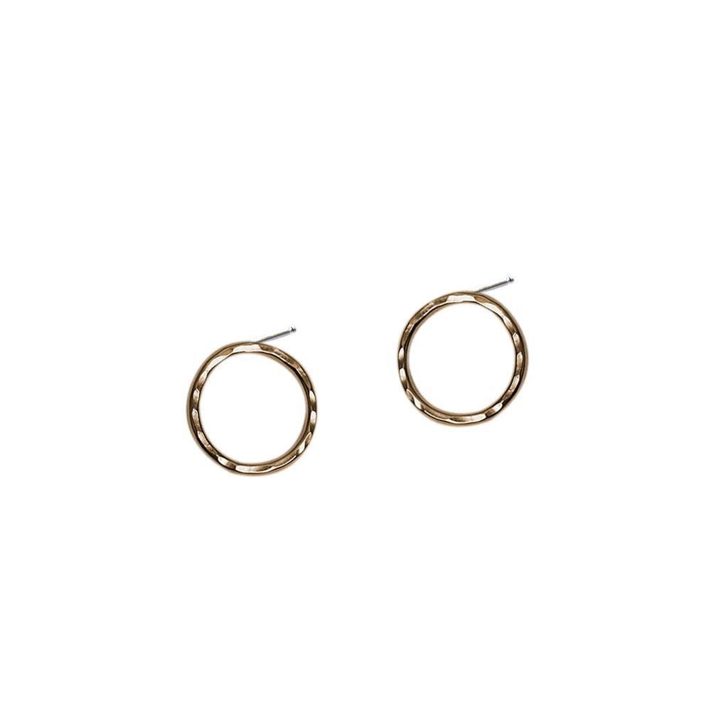Strut Jewelry Strut-Hammered Circle Studs-Med