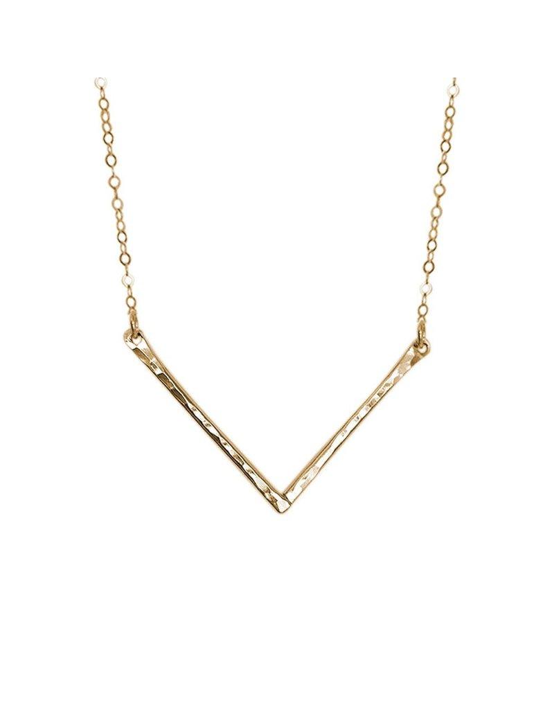 Strut Jewelry Strut-Hammered Chevron Necklace