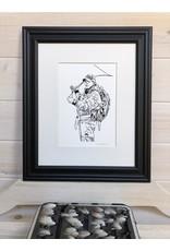 Krissie Worthman Art KW Art-Salmon FIsherman