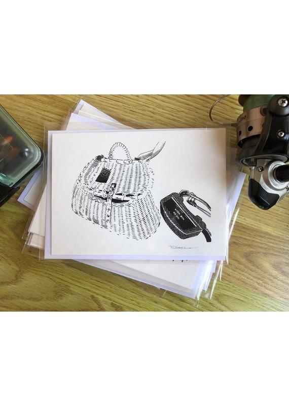 Krissie Worthman Art KW Art-Trout Basket&Worm Box