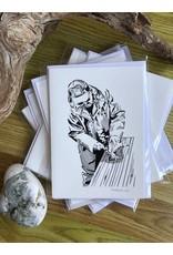 Krissie Worthman Art KW Art-Dad Gutting Fish
